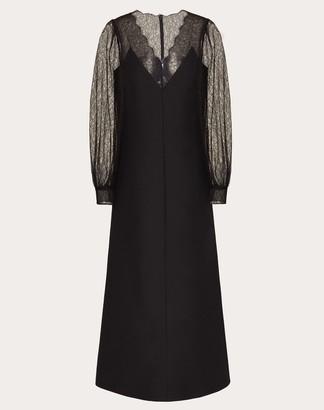 Valentino Crepe Couture Dress Women Black Virgin Wool 65%, Silk 35% 40