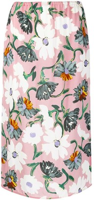 Marni Floral-Print Midi Skirt