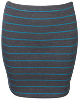 Striped Double Knit Skirt