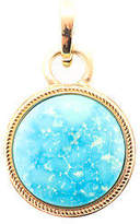 Rarities Turquoise Gold Plated Sterling Silver Enhancer Necklace Pendant $580