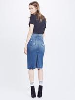 Mother Back Slit Midi Fray Skirt - Naughty Intentions