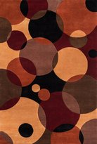 Momeni Rugs NEWWANW-37BLK5380 New Wave Collection, 100% Wool Hand Carved & Tufted Contemporary Area Rug