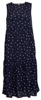 Dorothy Perkins Womens Blue Spot Print Sleeveless Tiered Midaxi Dress, Blue