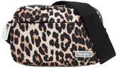 Ganni Small Leopard Printed Nylon Camera Bag