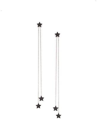 Alinka 18kt gold and diamond STASIA chain drop earrings