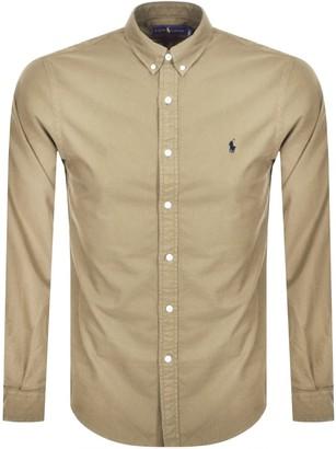 Ralph Lauren Oxford Long Sleeved Shirt Beige