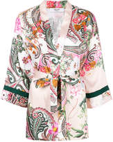 Blugirl paisley wrap blouse