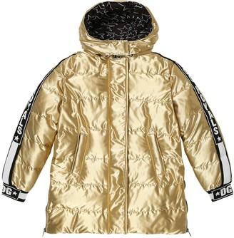 Dolce & Gabbana Kids Metallic down coat