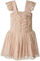 Stella McCartney Jo Jo All Over Star Print Ruched Tulle Dress Girl's Dress