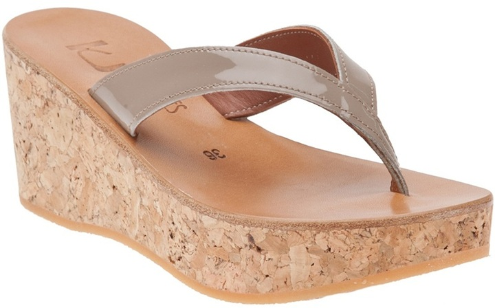 K. Jacques Diorite thong sandal