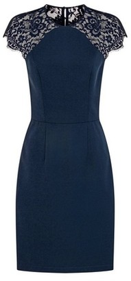Dorothy Perkins Womens Chi Chi London Navy Lace Bodycon Dress, Navy