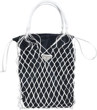 Prada Net Embellished Bucket Bag