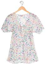 Milly Minis Girls' Watercolor Print Short Sleeve Top