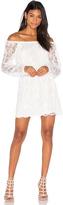 Nightcap Clothing Dentelle Off Shoulder Dress