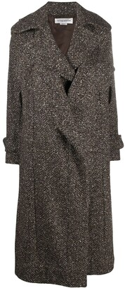 Victoria Beckham Wool-Blend Belted Coat
