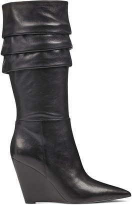 Nine West Vernese Scrunched Wedge Boots