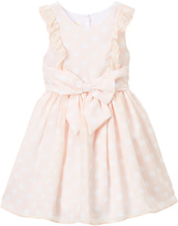 Laura Ashley Peach Angel-Sleeve Dress - Toddler & Girls
