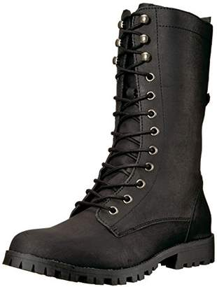 Sugar Women's Tegan Lace-Up Mid-Calf Combat Boot