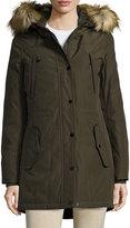 MICHAEL Michael Kors Hooded Down Jacket w/ Faux-Fur Trim