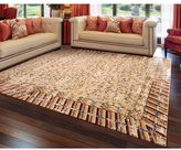 Barclay Butera Dynasty Lotus Ochre Area Rug by Nourison (8'6 x 11'6)