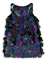 Milly Minis Toddler's, Little Girl's and Girl's Paillette Sequin Angular Shift Dress