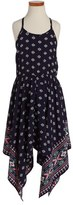 Soprano Girl's Print Handkerchief Dress