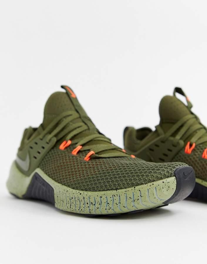 Nike Training Metcon free sneakers in khaki ah8141-342