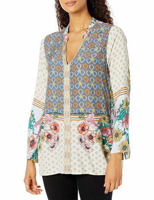 Johnny Was Women's Printed Long Sleeve Tunic Blouse