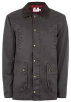 Topman Mens Khaki Corduroy Collar Jacket