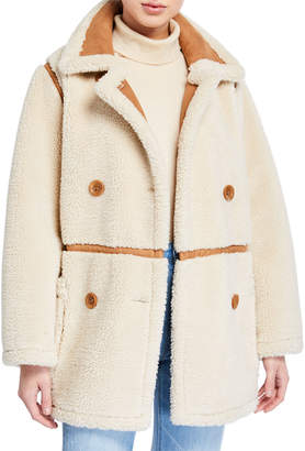 Chloé Stand Faux-Shearling Jacket