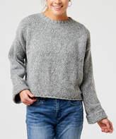 Carve Designs Women's Pullover Sweaters Limestone - Limestone Heather Estes Crop Sweater - Women