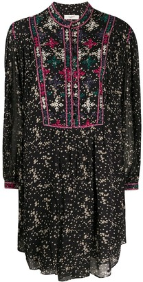 Etoile Isabel Marant Imalou embroidered floral-print dress