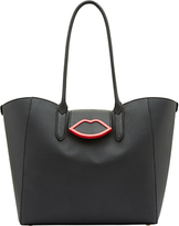 Lulu Guinness Cupid's Bow Sofia Tote Bag, Black