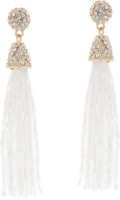 Susan Graver Beaded Tassel Earrings