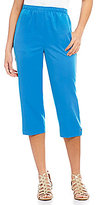 Allison Daley Petites Grommet Detail Hem Pull-On Capri Pants