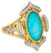 Jude Frances Malta Turquoise Doublet & Diamond Cocktail Ring