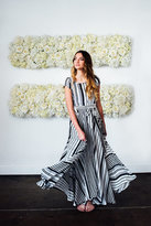 Shabby Apple Zebra Maxi Dress Navy & White