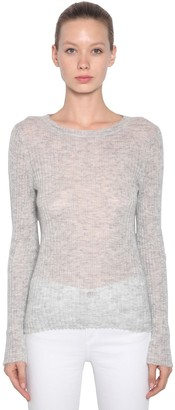 Rag & Bone Mohair Blend Rib Knit Sweater