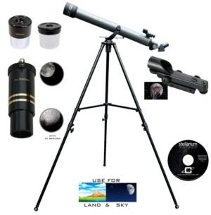 Galileo 700 X 60 Day and Night Telescope and Red Dot Finder Scope and Stellarium Cd