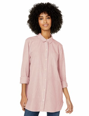Goodthreads Amazon Brand Women's Washed Oxford Long-Sleeve Button-Front Tunic Shirt