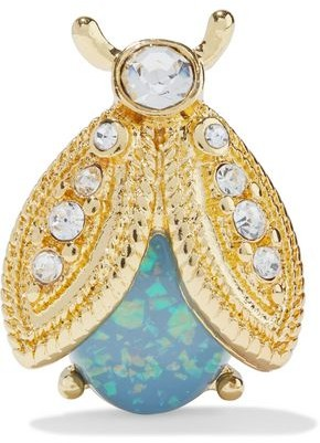 Kenneth Jay Lane Gold-plated, Stone And Crystal Brooch