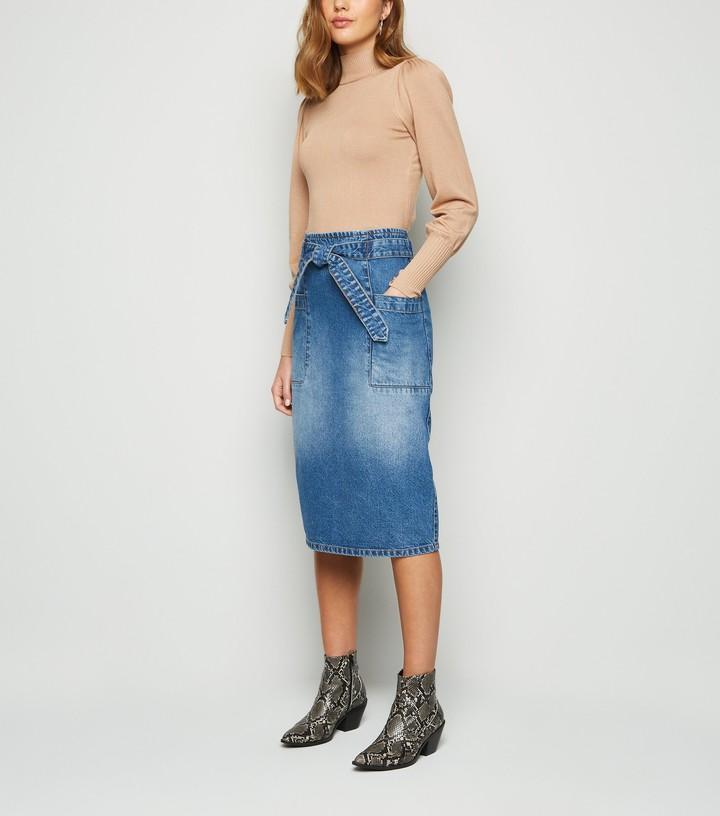 New Look JDY Denim Pencil Skirt