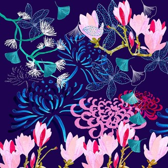 Amanda West Giclee Print - Midnight Florals