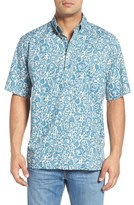 Reyn Spooner 'Island Biscus' Classic Fit Wrinkle Free Print Pullover Camp Shirt