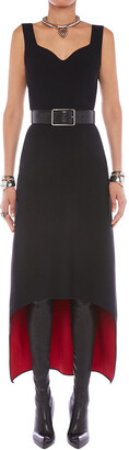 Alexander McQueen Double-Face Knit High-Low Sweetheart Dress