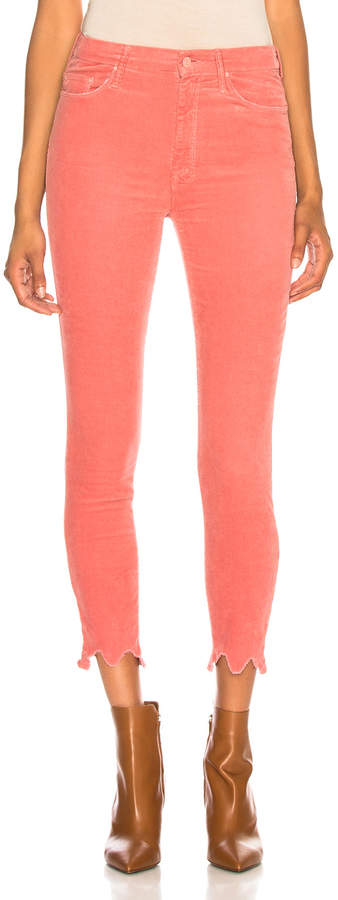 Mother High Waisted Looker Ankle Chew in Hopscotch Pink | FWRD