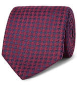 Charvet 7.5cm Houndstooth Silk Tie