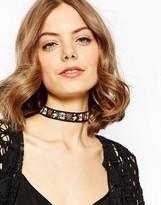 Asos Wallflower Black Ribbon Choker Necklace