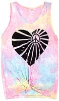 Flowers by Zoe Girls' Distressed Knot-Front Heart Tank - Little Kid