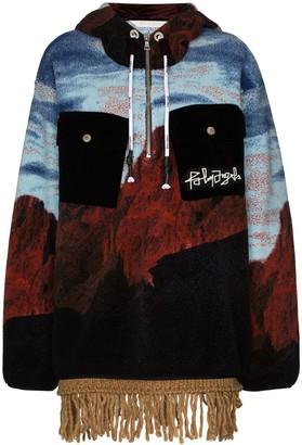 Palm Angels Canyon fringed-edge hoodie